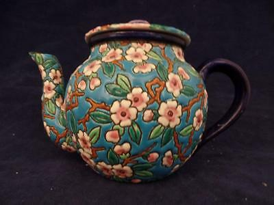 Kenilworth Studios Longwy France Cherry Blossom Teapot Hand Painted