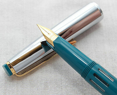Super Rotax Piston Filling Fountain Pen in Blue, Made in Germany, NEW OLD STOCK