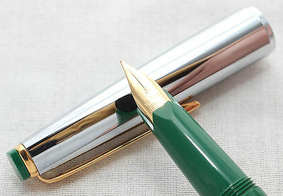 Super Rotax Piston Filling Fountain Pen in Green, Made in Germany, NEW OLD STOCK