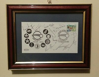 *VERY RARE* 1992 World Cup Final FDC signed by 8 Pakistan cricket players
