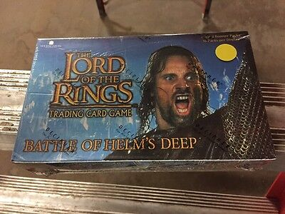 LORD OF THE Rings Battle Of Helms Deep BOOSTER Box CCG Factory Sealed Look
