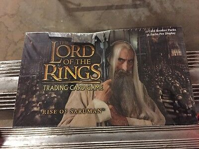 LORD OF THE Rings Rise Of Saruman BOOSTER Box CCG Factory Sealed Look