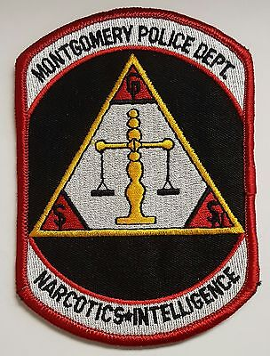 Montgomery Police Department Narcotics & Intelligence Cloth Patch
