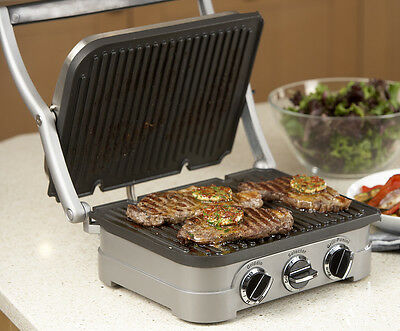 Cusinart GR4CU Electric Griddle Contact Grill Panini Press