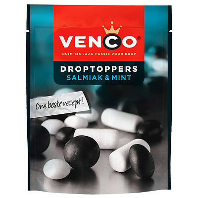 Venco, Droptoppers Salmiak en Mint (287 gram)