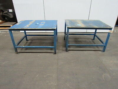 "48""x36""x30"" Industrial Steel Assembly Shipping Welding Packing Table 2/Lot"