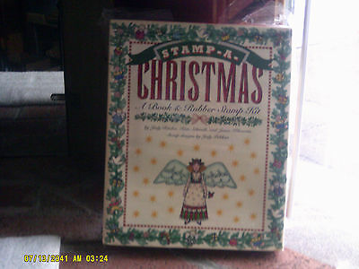 Stamp-A-Christmas A Book & Rubber Stamp Kit Sealed Complete by Judy Ritchie (t)