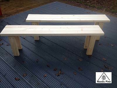 Wooden Bench Solid Pine 5ft Dining Kitchen Garden Hand Crafted