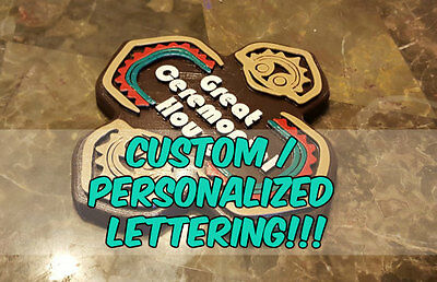 """9"""" x 9"""" Personalized Polynesian Themed Longhouse Tiki Sign / Plaque!"""