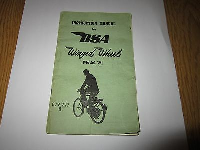 bsa winged wheel  owners instruction manual