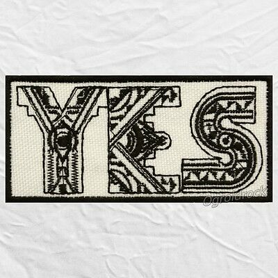 Yes Time and a Word Logo Embroidered Patch Roger Dean Chris Squire Jon Anderson