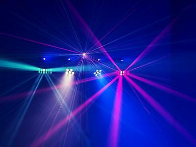 Eurolite LED Party Bar 2x RGB Spots + 2x Derbys + 4x Strobes + Laser + Case