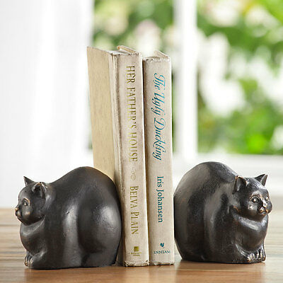 Cast Iron Chubby Cat Bookends