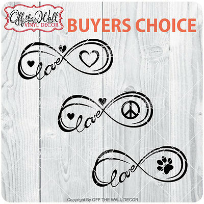 Infinity of Love-Peace-Pet [Buyers Choice] Stickers for Cars / Trucks / Laptops
