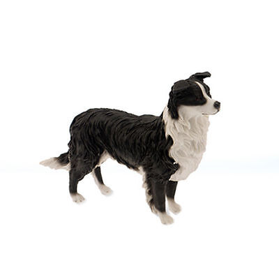 Collie Ornament Dog Working Border Gift Figurine Collection Decoration Home Shop
