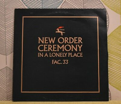 NEW ORDER - Ceremony [Vinyl 12 Inch Single,1981] UK FAC. 33 Green Sleeve *EXC