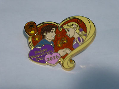 Disney Trading Pins 113051 Happy Valentine's Day 2016 - Rapunzel and Flynn