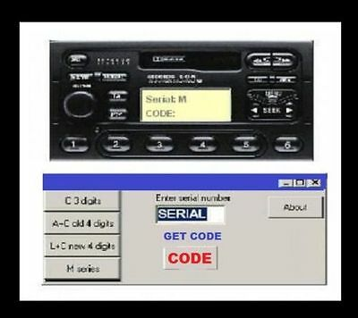 Ford Car Radio Cd Player Unlocking Software Business For Sale