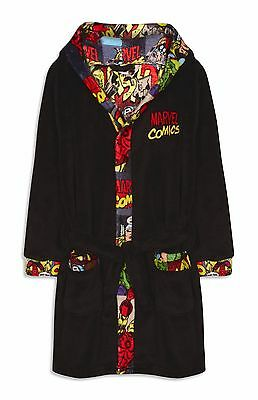 Primark Marvel Comics Boys Girls Dressing Gown Bath Robe -Size 7-13 Years - BNWT