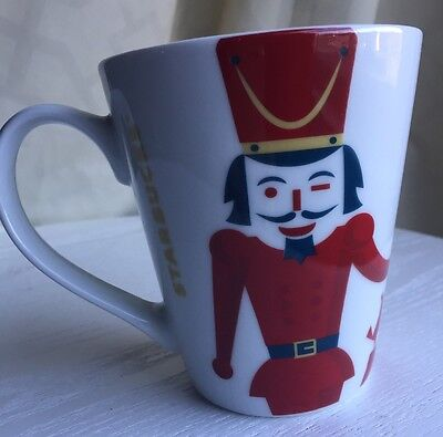 2012 Starbucks Coffee Co Red Nutcracker Christmas ceramic Cup Mug (155) *