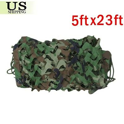 23x5FT Woodland Leaves Military Camouflage Net Hunting Camo Camping Netting