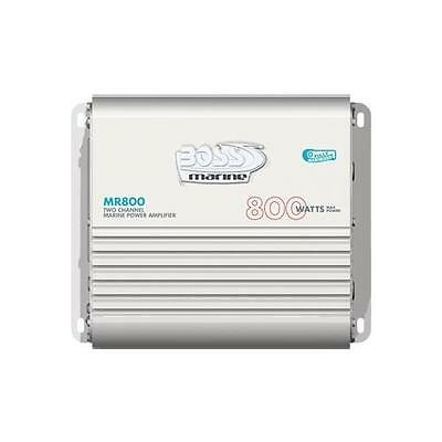 BOSS MR800 800-Watt 2-Channel Marine Amplifier (Bridgeable, MOSFET)(MR800)