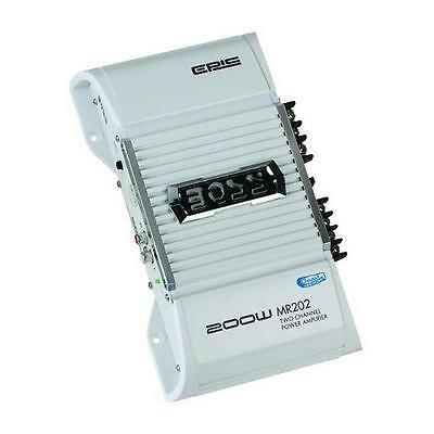 BOSS MR202 200 Watt 2 Channel High Power Marine Amplifier(MR202)
