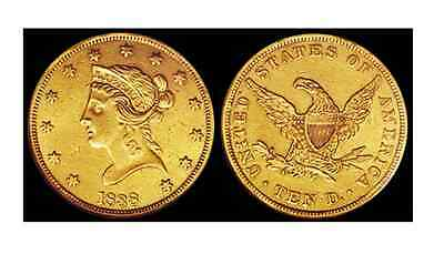 Lot Of (2) Circulated Random Common Date $10 Liberty Head Gold U.s. Coin