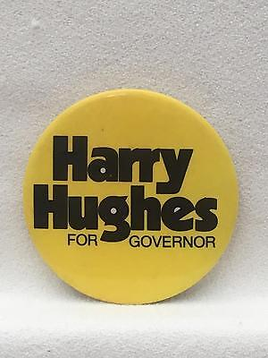 "Harry Hughes For Governor Campaign Button Pin 2.5"" MARYLAND"