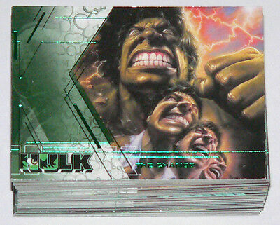 Hulk the Movie by Upper Deck in 2003. Complete 81 card base set