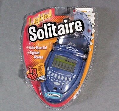 New - Radica  Lighted Solitaire Electronic Handheld Game #74014 - Free Shipping