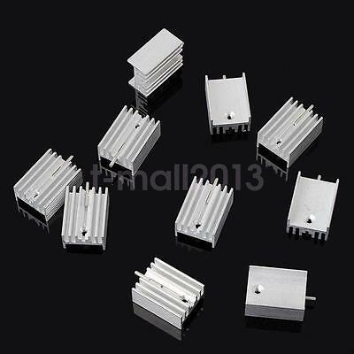 10pcs 21*15*10mm TO-220 Heatsink Heat Sink for Voltage Regulator or MOSFET New
