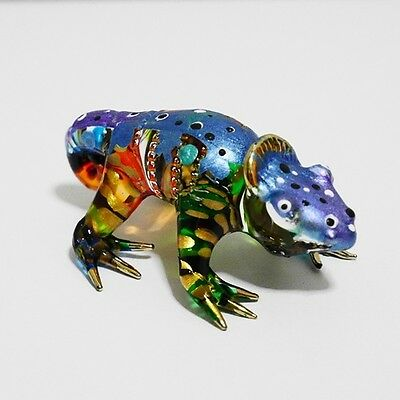 Camelion Animal Figurine Hand Paint Blown Glass Home Decorate Collectible Gift