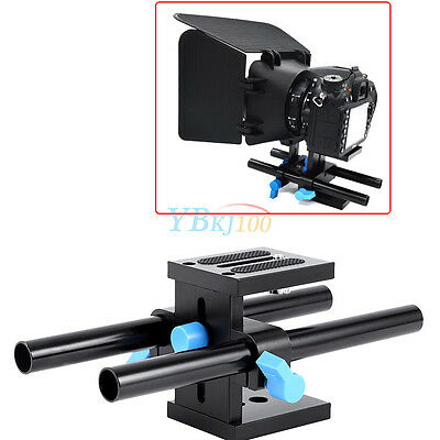 15mm Rail Rod Support System Baseplate Stand for Matte Box DSLR Follow Focus GW
