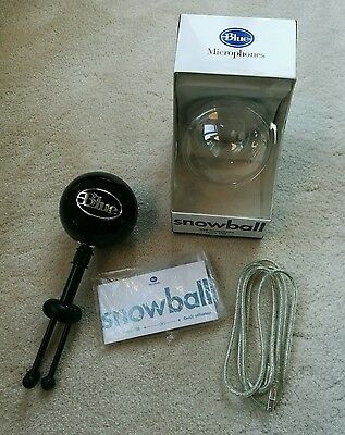 Blue Microphone Snowball iCE USB Microphone - Glossy Black - Boxed & Complete