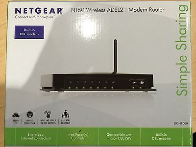 Netgear N150 WiFi Modem Router DGN1000 DSL ADSL2+ Wireless