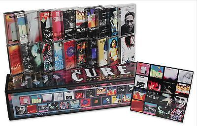 THE CURE lot of 22 used cassettes in homemade box set + complete magnet set