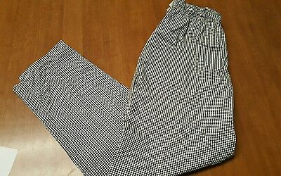 Checkered Black and White Chef Pants