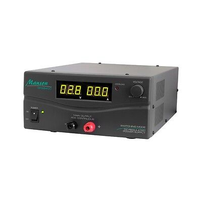 Manson SPS9400G 40 AMP 3-15V SWITCHING MODE DC REGULATED POWER SUPPLY-Dark Grey