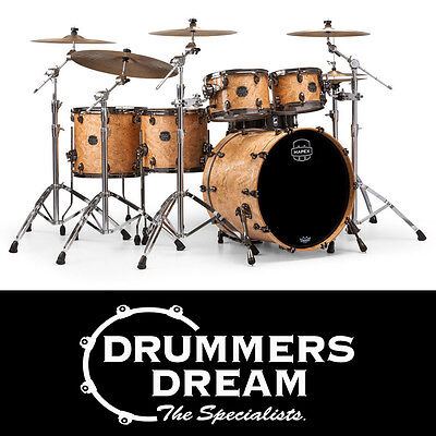 Mapex Saturn V MH Exotic Studioease 5-Piece Shell Pack Natural Maple Burl NEW