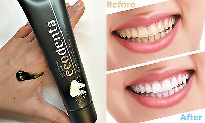 ECODENTA Ecologic Charcoal Black Whitening Toothpaste  with Teavigo 100g