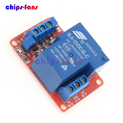 30A 12V 1-Channel Relay Module Board With Optocoupler H/L Level Triger