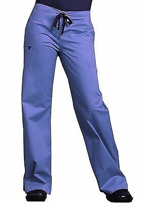 MED COUTURE women's Nurse Signature SCRUBS PANTS Straight Leg Drawstring Ceil XL