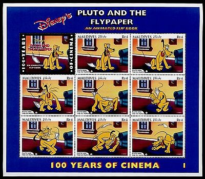 Maldives 2189-92 MNH Disney, Pluto & The Flypaper, Little Whirlwind