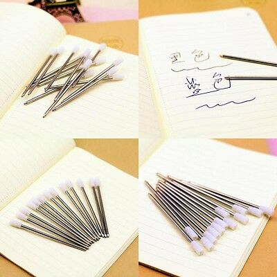 5 x Metal Roller ball pen refill 0.7mm Made in china Black Blue ink Stationary