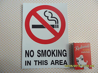 2  No Smoking Sign Sticker 145Mm X 100Mm 1,4,10 Also Available Waterproof