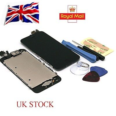 For Apple iPhone 5 Full Assembly Black Replacement LCD Screen Digitizer Camera