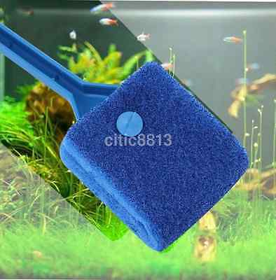 Aquarium Fish Tank Floating Magnetic Glass Cleaner Algae Brush US