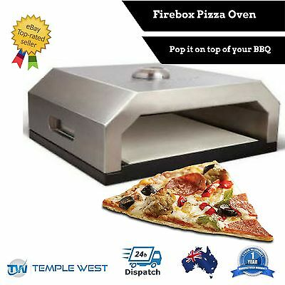 NEW Firebox BBQ Pizza Maker Oven Portable Stainless Steel Camping Gas Charcoal