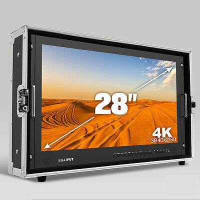 "LILLIPUT 28"" BM280 4K Broadcast Ultra-HD Field Monitor with 3G SDI HDMI DVI VGA"
